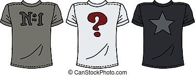 rigolote, trois, chemises