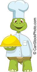 rigolote, turtle., chef.