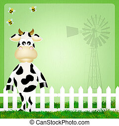 Traite rigolote vache traite rigolote illustration vache - Photo vache rigolote ...