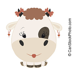 Rigolote vache rigolote s rie vache illustration animal peinture dessin - Photo vache rigolote ...