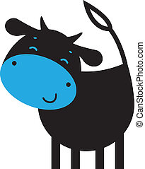 Rigolote caract re vache rigolote rendu vache toon illustration de stock - Photo vache rigolote ...
