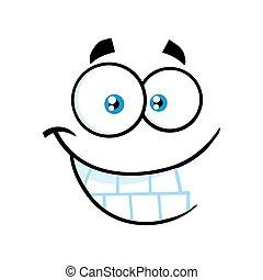 rigolote, visage smiley, sourire, expression, dessin animé