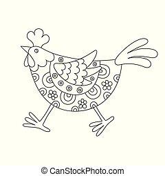 Rigolote peu poule dessin anim rigolote peu - Dessin poule rigolote ...