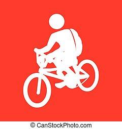 rijden, fiets, ontwerp