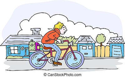 rijden, fiets