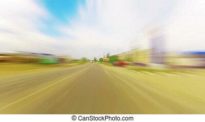 rijden, op, een, auto