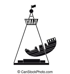 rijden, silhouette, scheeps , zeerover