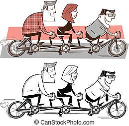 rijdende fiets, team
