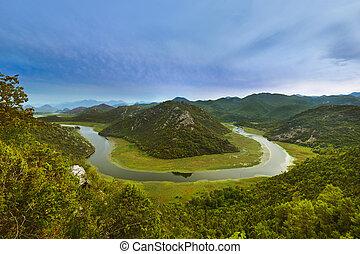Rijeka Crnojevica River near Skadar Lake - Montenegro -...