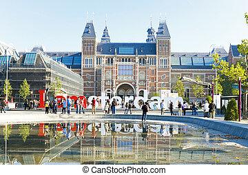 rijksmuseum, in, amsterdam, de, nederland