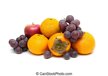 rijp, sappig, vrijstaand, achtergrond., fruit, witte