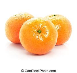 rijp, voedingsmiddelen, vrijstaand, achtergrond, vruchten, witte , mandarine