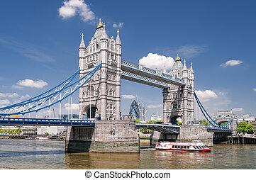 rijzen brug uit, london.