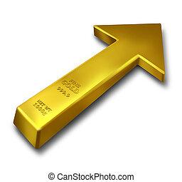 rijzen, goud