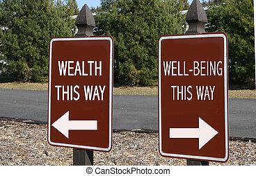 rikedom, well-being?, eller