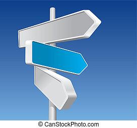 riktnings skyltar, (vector)
