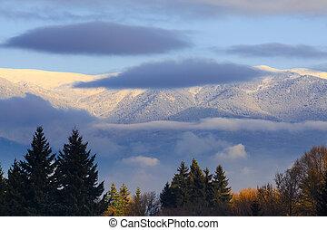 Rila mountain in the morning, Bulgaria