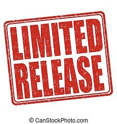 rilascio, limitato, francobollo