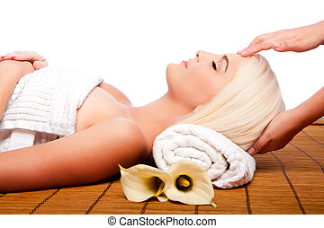 rilassamento, viziando, massaggio, terme