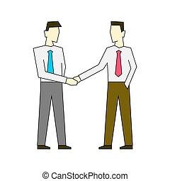 rillend, achtergrond, witte , illustratie, zakenlieden, kleur, schets, handen