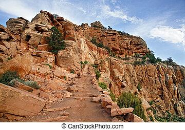 rim), アリゾナ, アメリカ,  -, 国民, 公園, 峡谷, 4, 壮大, 光景,  (south