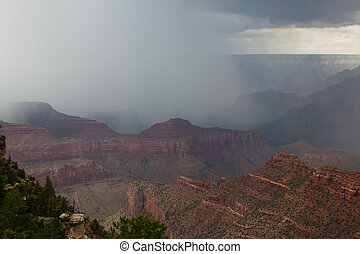 rim-near, punto, canyon-s., unidad, borde, az-grand, este, lipan