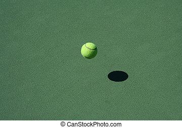 rimbalzare, campo da tennis, palla