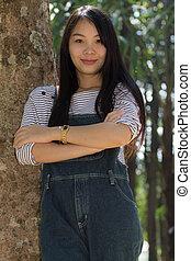Rimight Portrait Beautiful asian woman