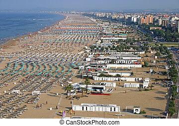 rimini, 夏, イタリア, 都市, 季節, 浜