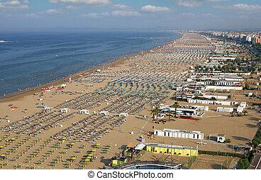 Rimini beach Adriatic sea landscape summer season