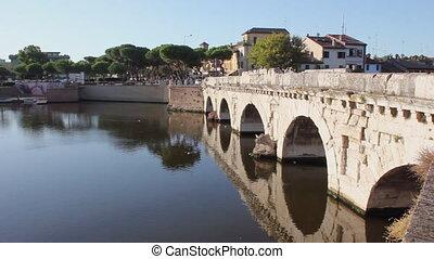 Rimini bridge Tiberius - The Augusto and Tiberio Bridge,...
