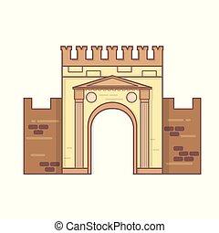 Rimini, Emilia Romagna, Italy Arch of Augustus vector,...