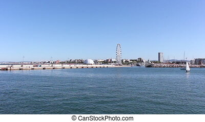 Rimini entry to the port - The Port of Rimini is made up of...