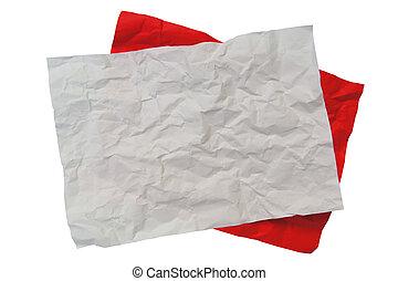 rimpelig, papier