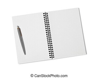 Ring binder on white background