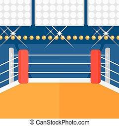 ring., boxeo, plano de fondo