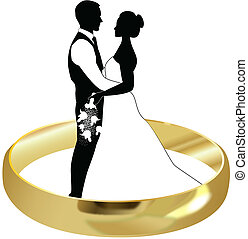 ring bride and groom