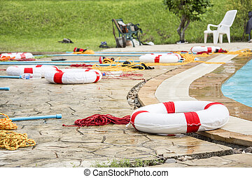 ring buoy lifeline and equipment rescue victim drowning for...