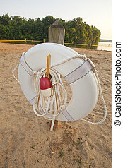 Ring Buoy on a Beach