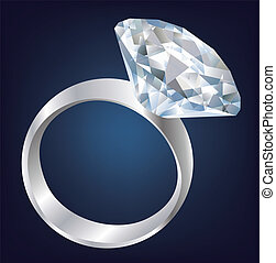 ring., clair, diamant, brillant