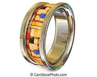 ring - platinum ring on white background