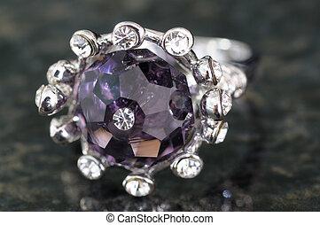 ring, closeup, zirconia