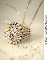 ring, diament