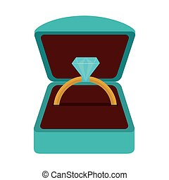 ring diamond wedding icon vector graphic