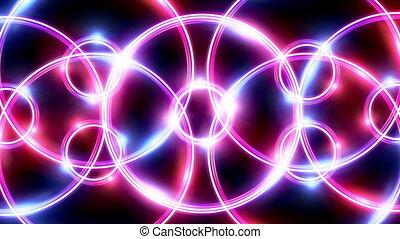 ring flare cross pattern pink blue HD