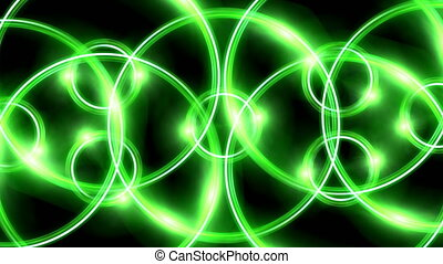 ring flare overlay pattern green - The circle shape of ring...