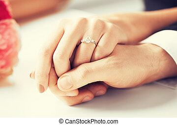 ring, frau, mann, wedding