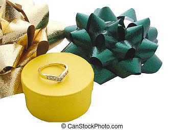 ring gift box and bows