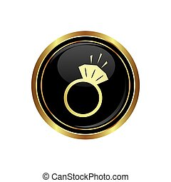 Ring icon on the black