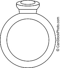 Ring icon, outline style
